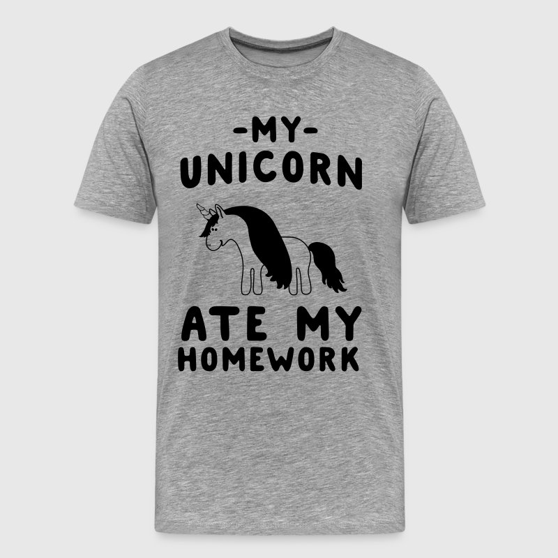 My unicorn ate my homework T-Shirts - Men's Premium T-Shirt