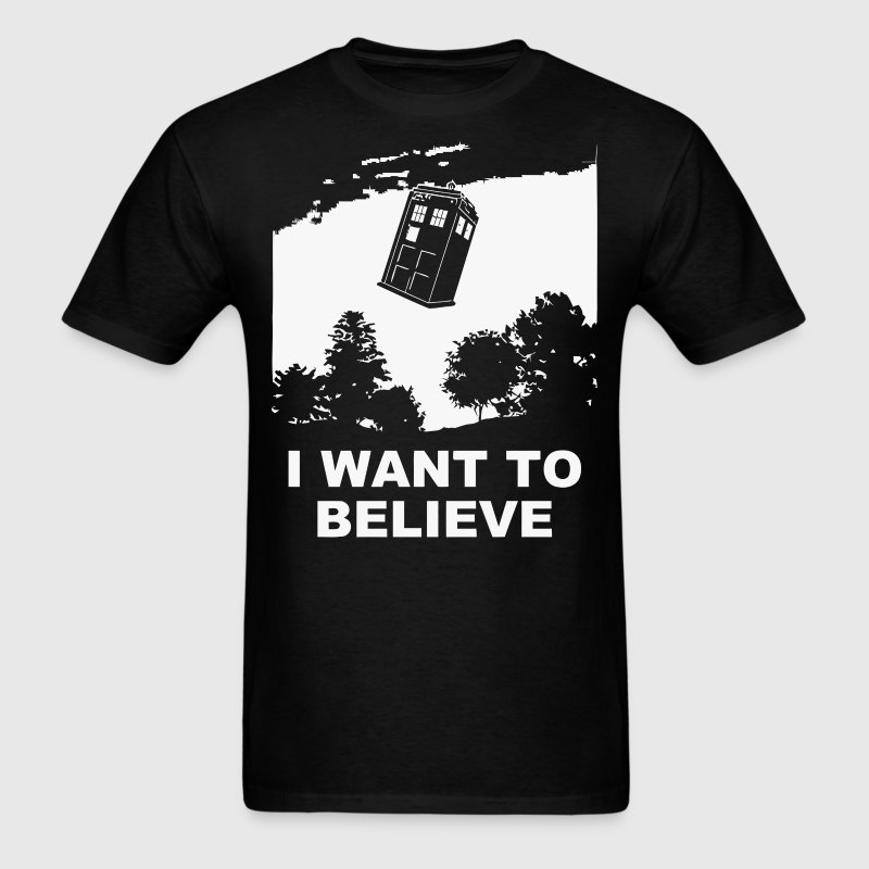 I Want To Believe Tardis - Men's T-Shirt