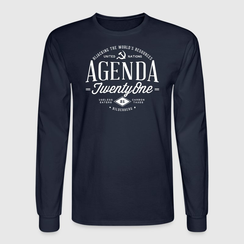 Agenda 21 Mens Long Sleeve T-Shirt - Men's Long Sleeve T-Shirt