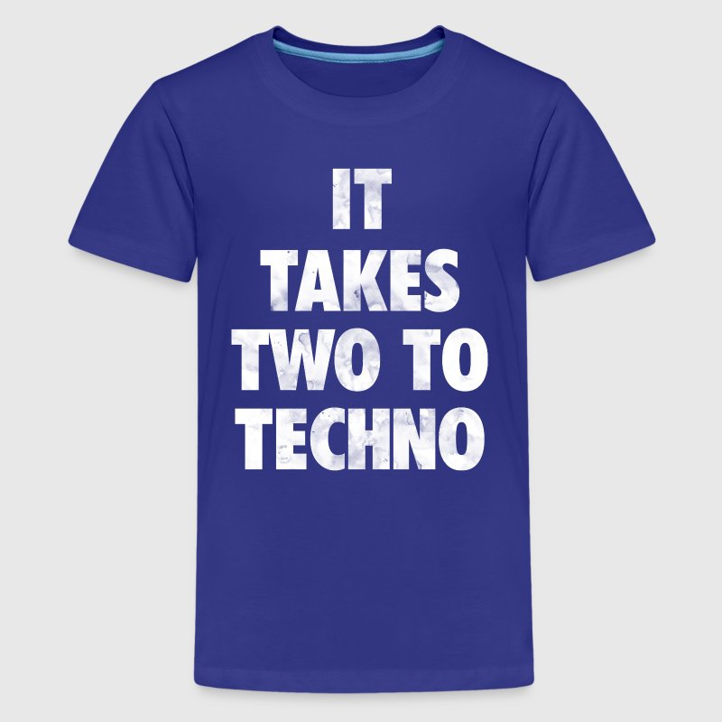 It takes two to techno - Kids' Premium T-Shirt