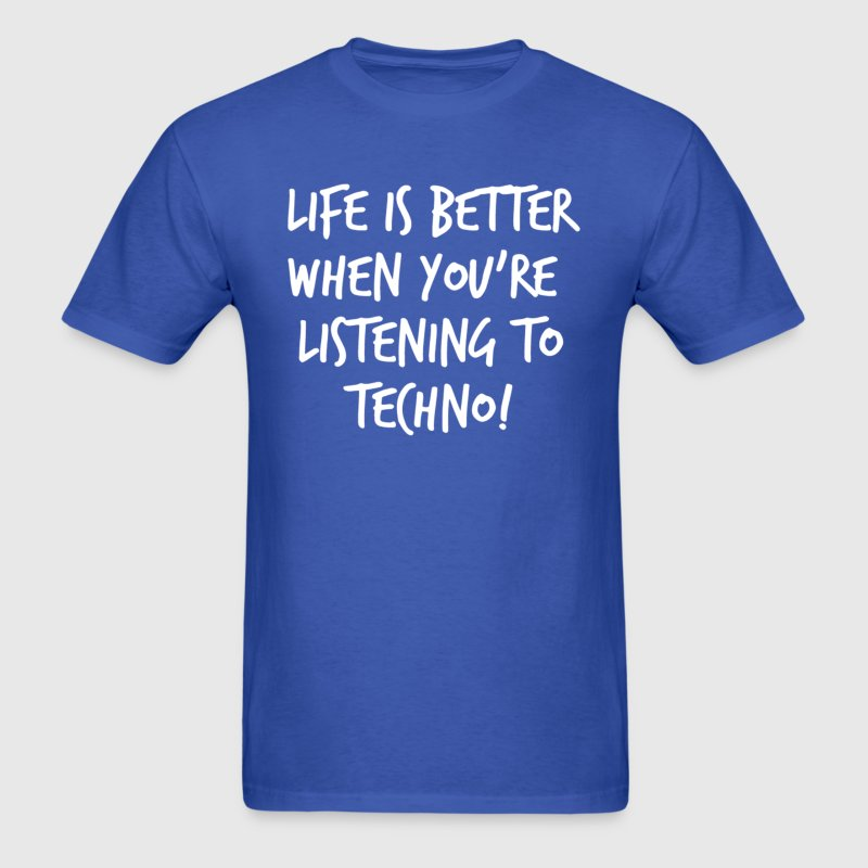 TECHNO SLOGAN - Men's T-Shirt