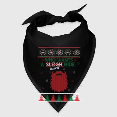 Mustache Who Wants A Beard Ride Xmas Mugs & Drinkware - Bandana