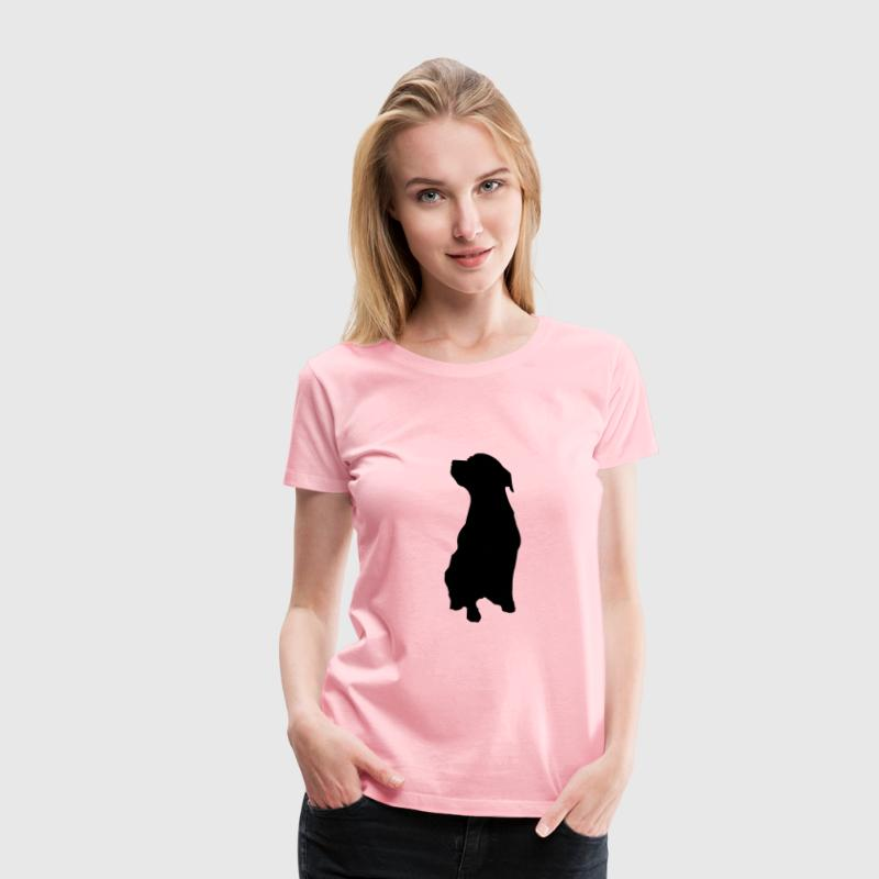 Rottweiler outline - Women's Premium T-Shirt