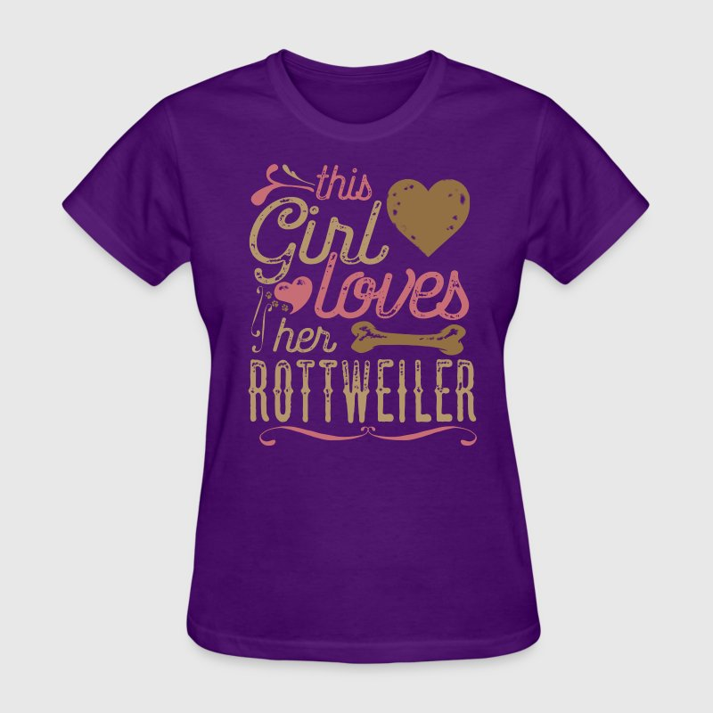 This Girl Loves Her Rottweiler Dog Shirt T-Shirts - Women's T-Shirt