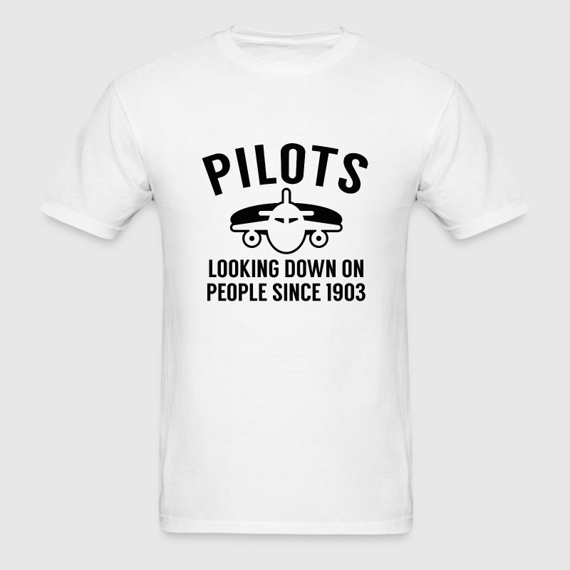 Pilots Looking Down - Men's T-Shirt