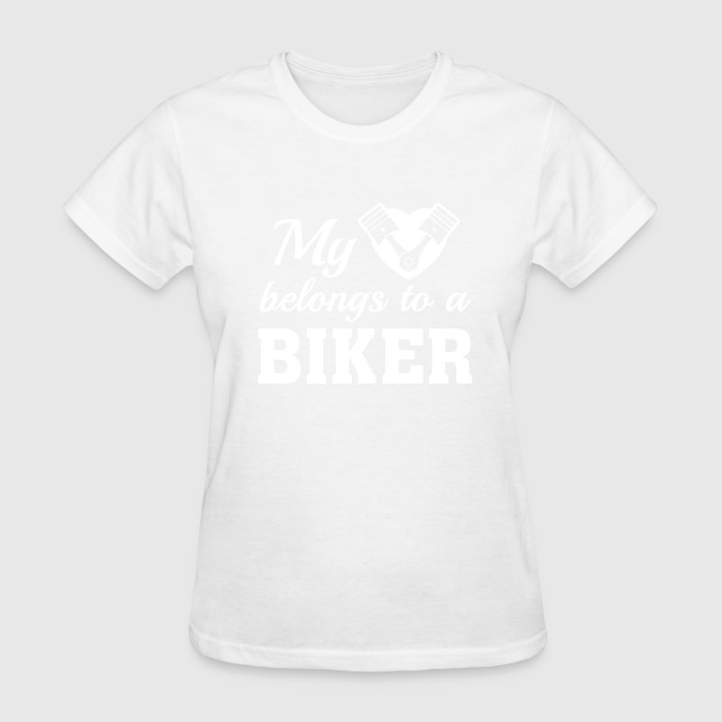 My Heart Belongs To A Biker - Women's T-Shirt