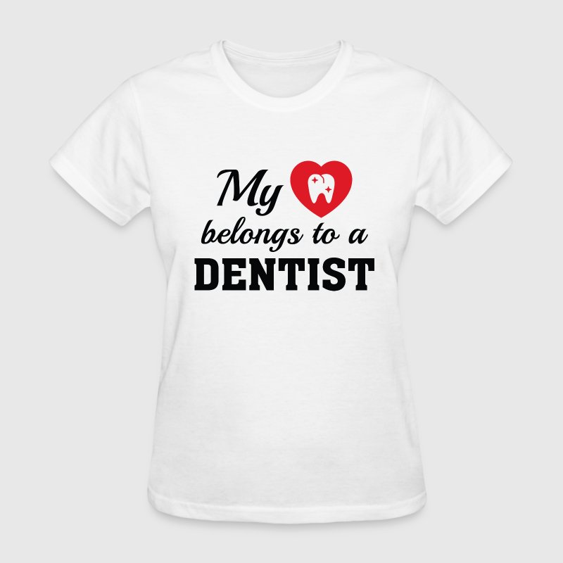 Heart Belongs Dentist - Women's T-Shirt
