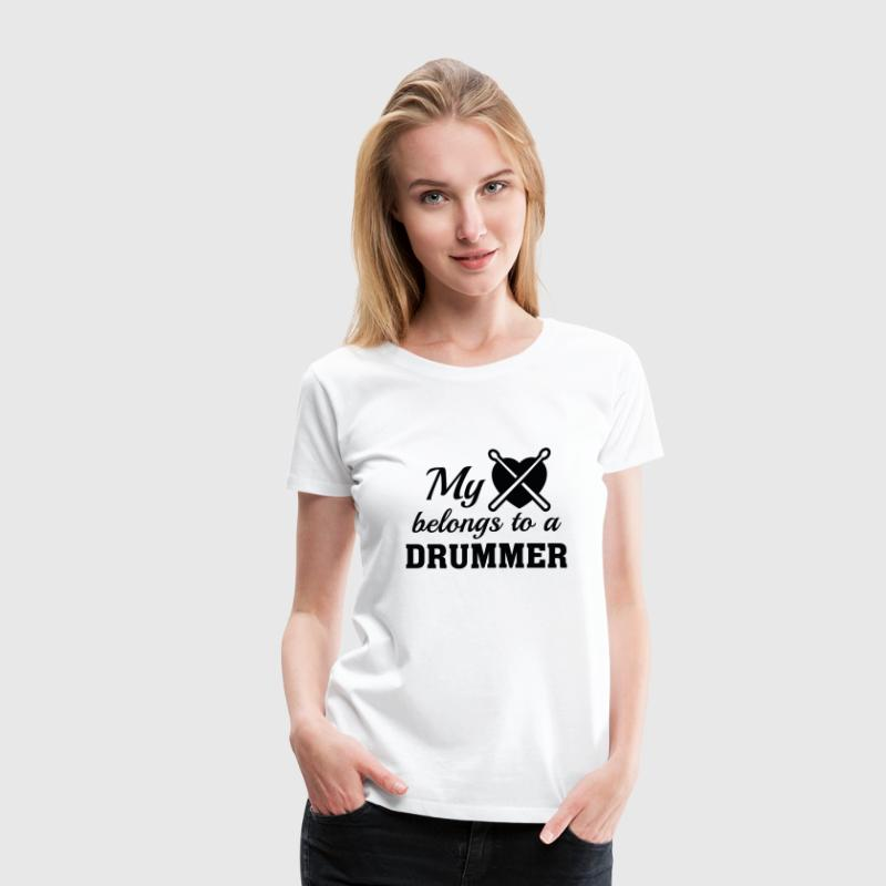 Heart Belongs Drummer - Women's Premium T-Shirt