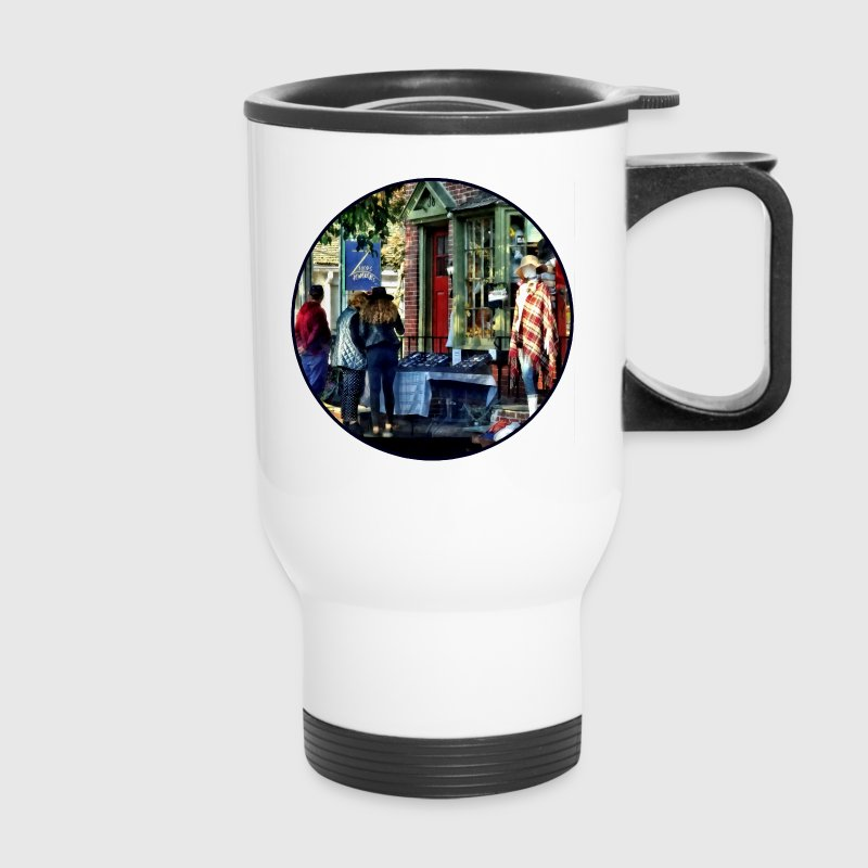 New Hope PA - Shopping Along Main Street Mugs & Drinkware - Travel Mug