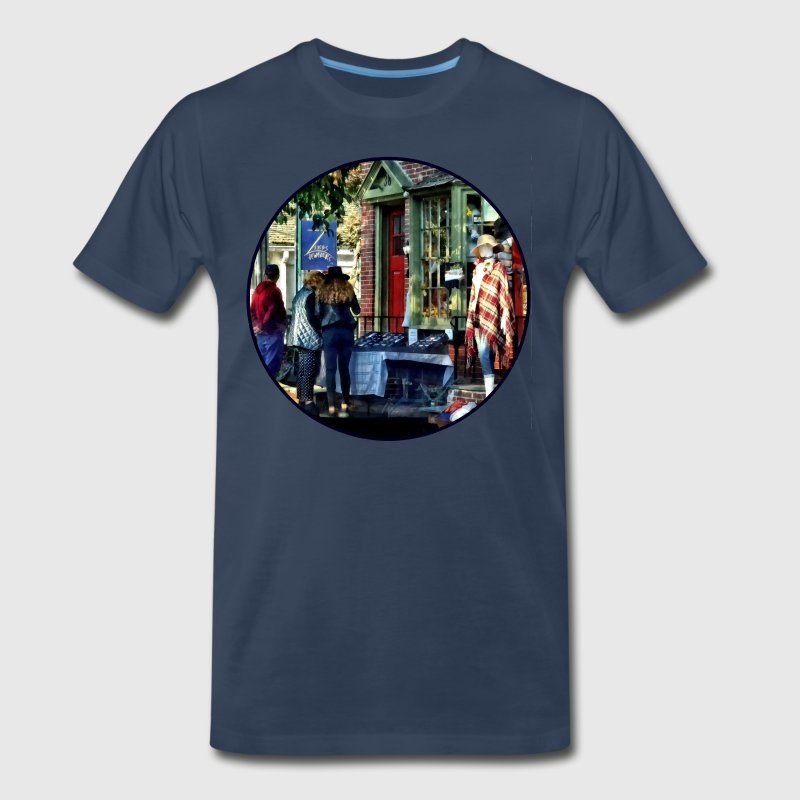 New Hope PA - Shopping Along Main Street T-Shirts - Men's Premium T-Shirt