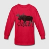 Canada Moose Souvenir Shirts Kid's Long Sleeve - Kids' Long Sleeve T-Shirt