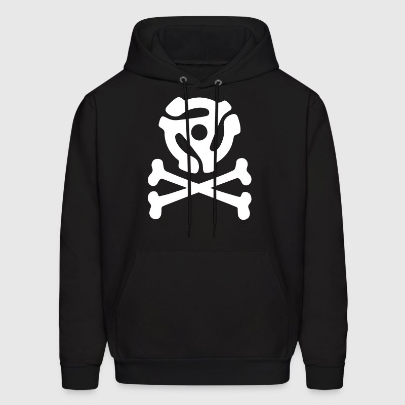 music skull and crossbones - Men's Hoodie