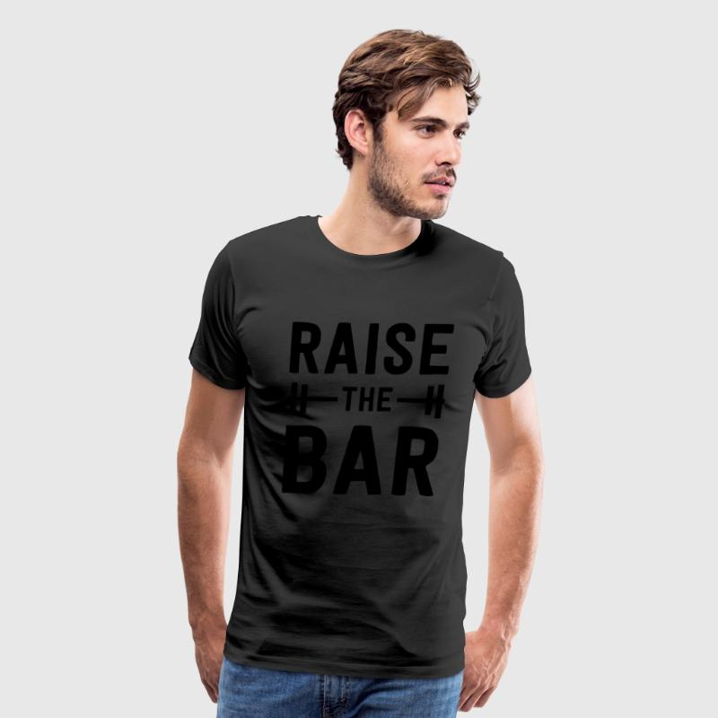 Raise the Bar. Workout T-Shirts - Men's Premium T-Shirt