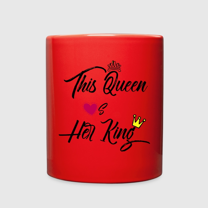 This Queen Loves Her King Mugs & Drinkware - Full Color Mug