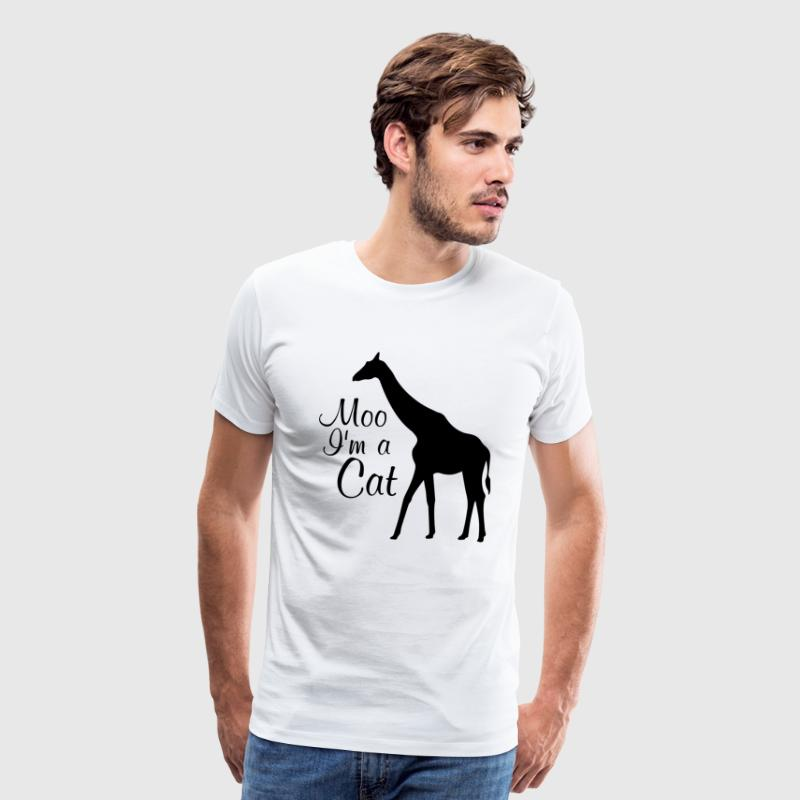 Moo I Am a Cat Funny Graphic Animal T-shirt T-Shirts - Men's Premium T-Shirt