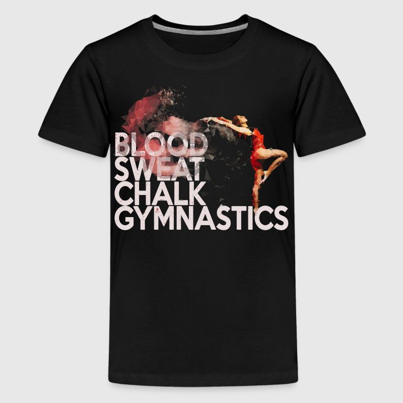 Blood, Sweat, Chalk: Gymnastics Kids' Shirts - Kids' Premium T-Shirt