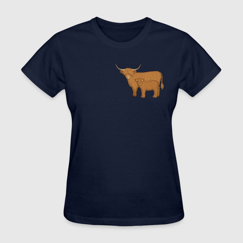 Highland Cattle kalf T-Shirts - Women's T-Shirt