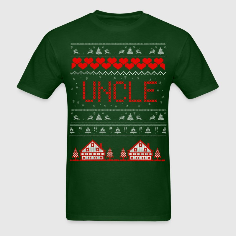Uncle Ugly Christmas Sweater T-Shirts - Men's T-Shirt