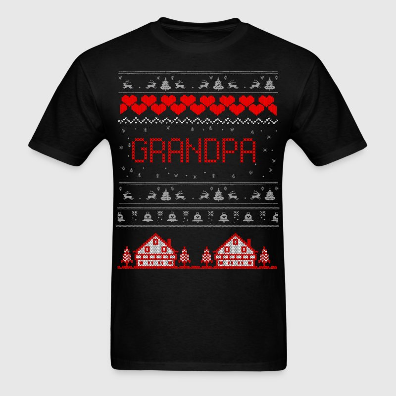 Grandpa Ugly Christmas Sweater T-Shirts - Men's T-Shirt