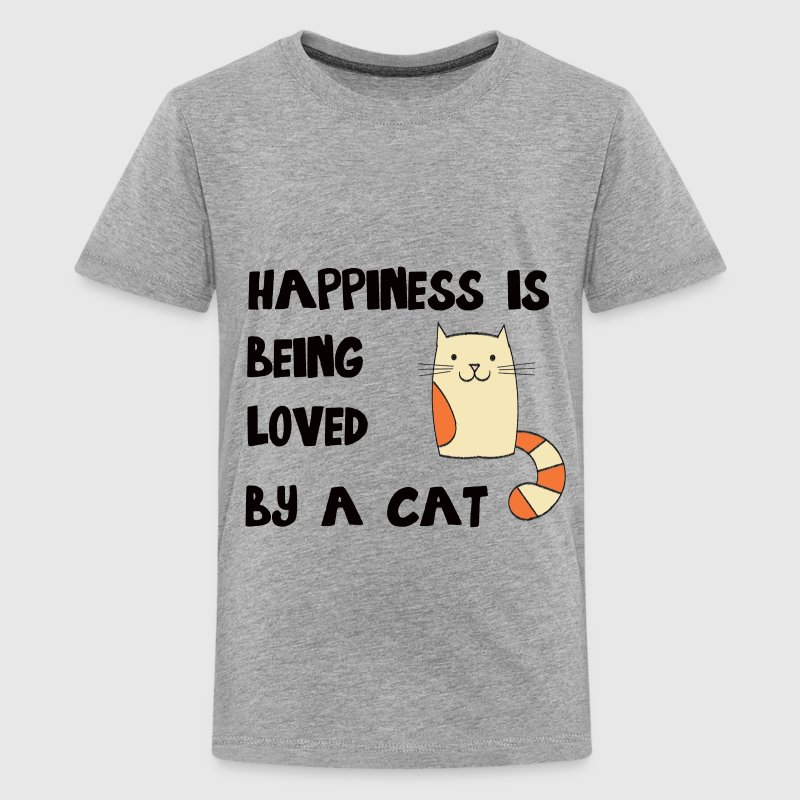 Happiness is Being Loved By a Cat Kids' Shirts - Kids' Premium T-Shirt