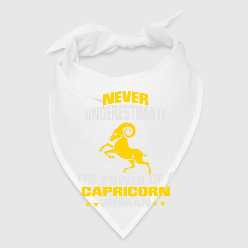 NEVER UNDERESTIMATE THE POWER OF A CAPRICORN WOMAN Caps - Bandana