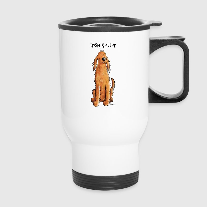 Happy Irish Setter Mugs & Drinkware - Travel Mug