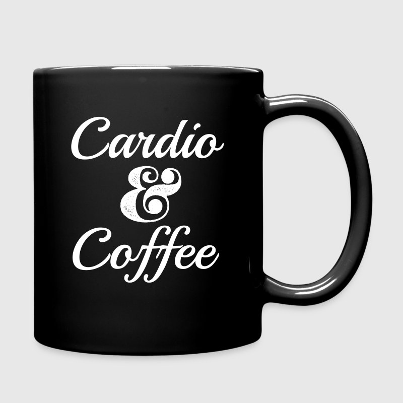 Cardio and Coffee funny mug - Full Color Mug