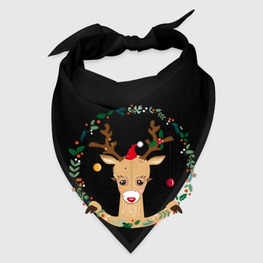 A reindeer in the Christmas time Aprons - Bandana