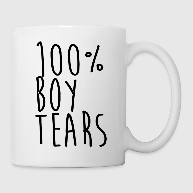 100% Boy tears Mugs & Drinkware - Coffee/Tea Mug