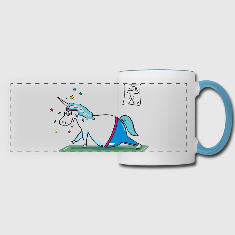 Cute Fat Unicorn Mugs & Drinkware - Panoramic Mug