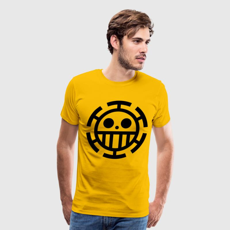 law pirates logo yellow shirt - Men's Premium T-Shirt