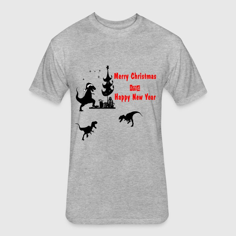 T-REX HOLIDAY T-Shirts - Fitted Cotton/Poly T-Shirt by Next Level