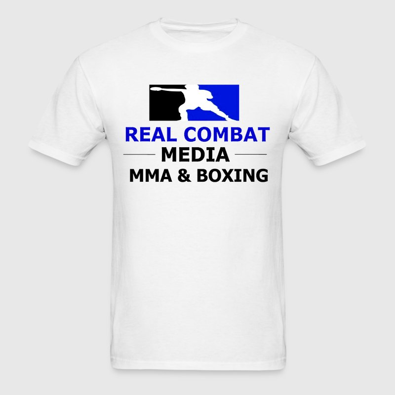 RCM MMA & BOXING Blue Logo White Shirt - Men's T-Shirt