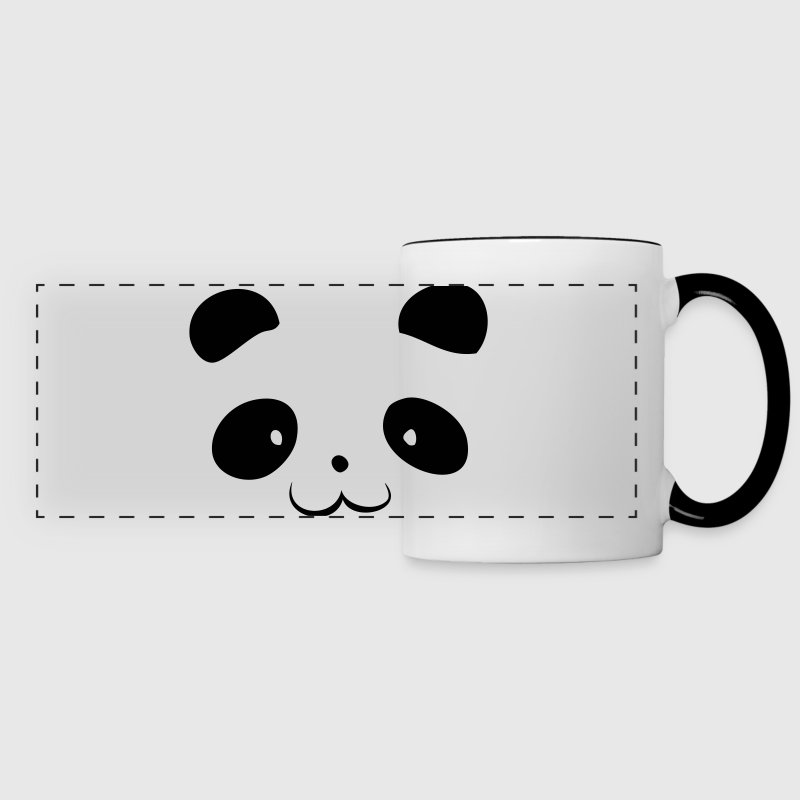 Panda Head Mugs & Drinkware - Panoramic Mug