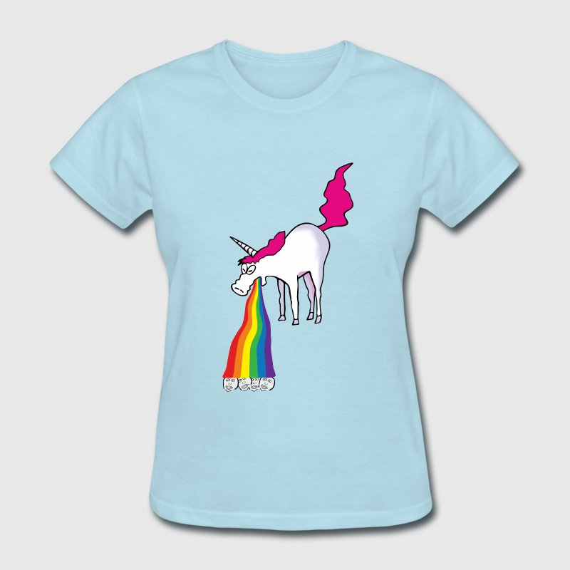 unicorn vomiting rainbow T-Shirts - Women's T-Shirt