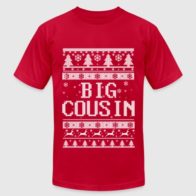 Big Cousin Christmas Long Sleeve Shirts - Men's T-Shirt by American Apparel