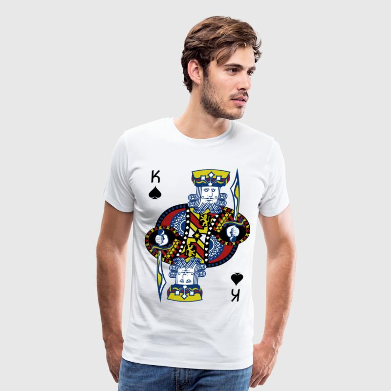 King Spade Playing Card - Men's Premium T-Shirt