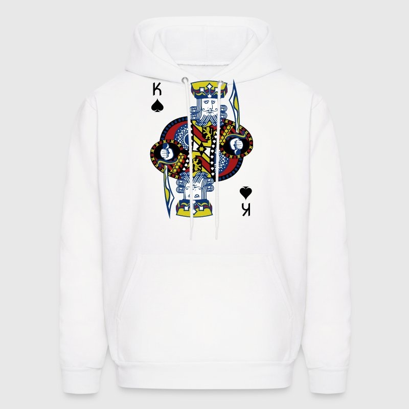 King Spade Playing Card - Men's Hoodie