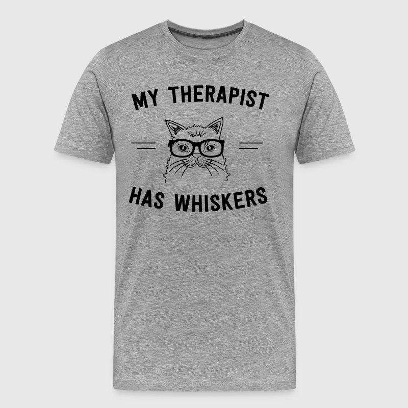 My therapist has whiskers T-Shirts - Men's Premium T-Shirt