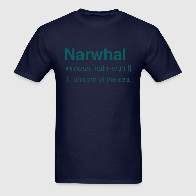Narwhal. Unicorn of the sea T-Shirts - Men's T-Shirt