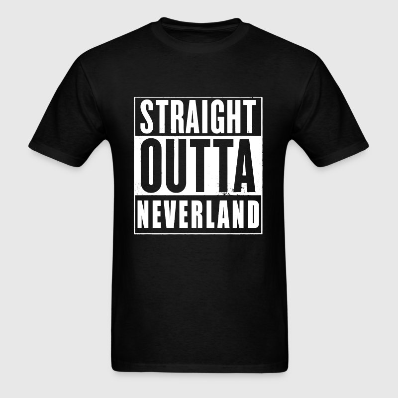 Straight Outta Neverland Peter Pan Parody T-Shirts - Men's T-Shirt