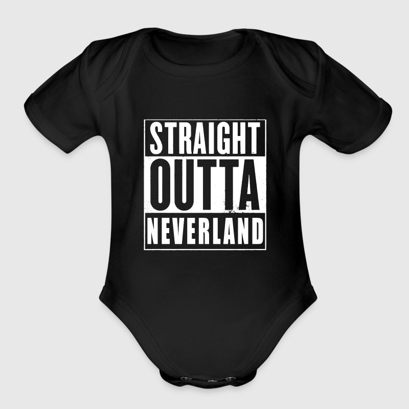 Straight Outta Neverland Peter Pan Parody Baby Bodysuits - Short Sleeve Baby Bodysuit