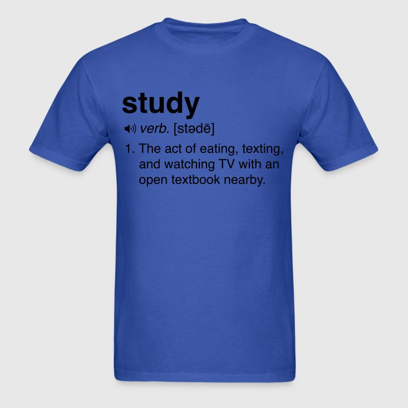 Funny Study Definition T-Shirts - Men's T-Shirt