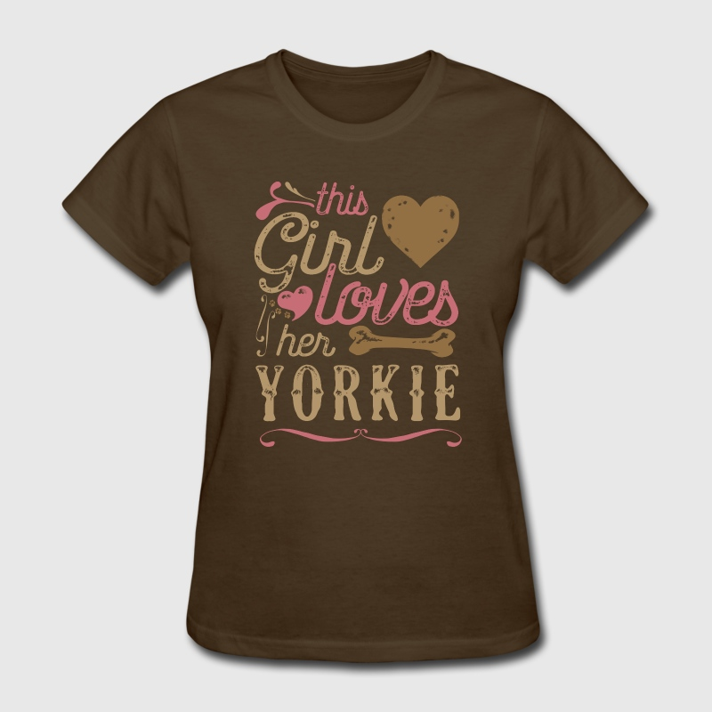 This Girl Loves Her Yorkshire Terrier Yorkie T-Shirts - Women's T-Shirt