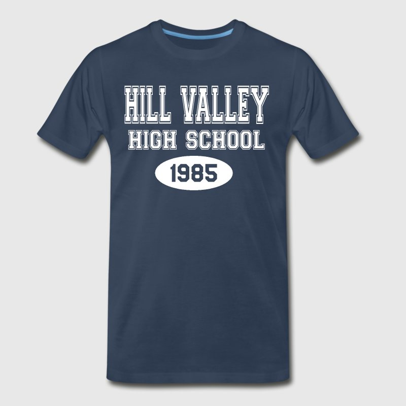 Back To The Future - Hill Valley High School T-Shirts - Men's Premium T-Shirt