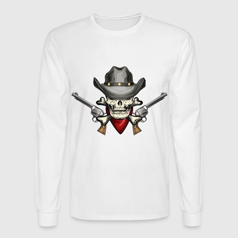 Skull Long Sleeve Shirts - Men's Long Sleeve T-Shirt