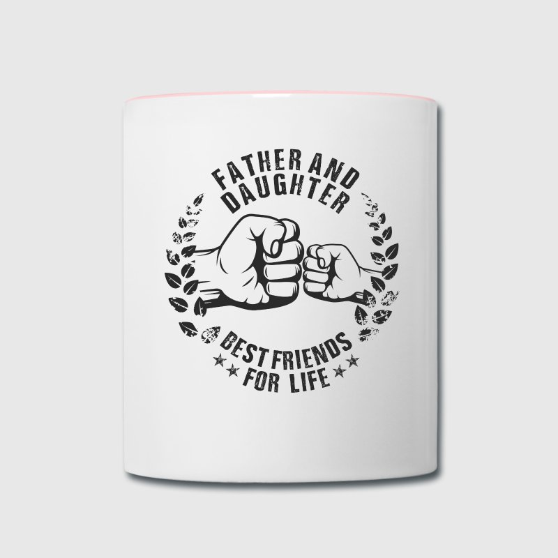 Father and Daughter best friends for life Mugs & Drinkware - Contrast Coffee Mug