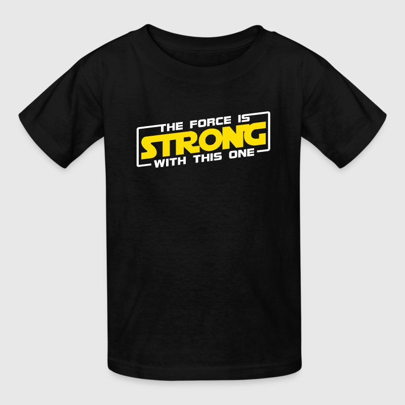 The Force Is Strong With This One - Yellow Kids' Shirts - Kids' T-Shirt