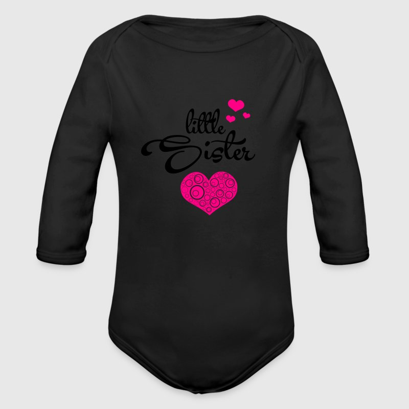 Little Sister with Hearts Baby Bodysuits - Long Sleeve Baby Bodysuit