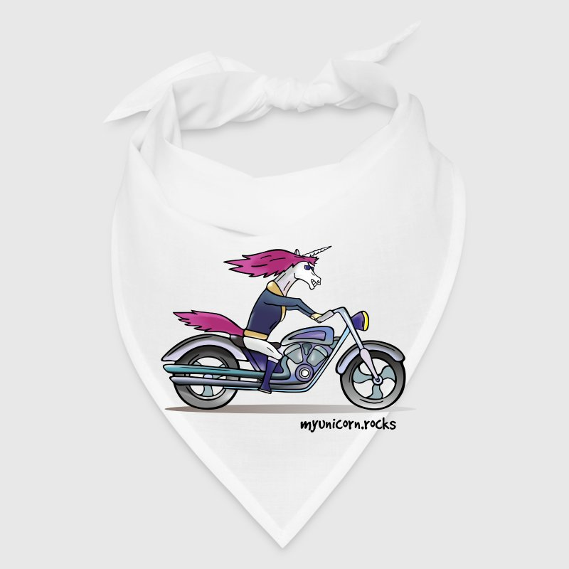 Badass unicorn on a motorcycle Caps - Bandana